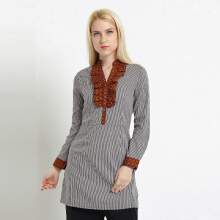 A&D MS 776 ladies Tunic Print - Brown
