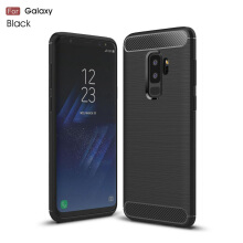 VEN Samsung Galaxy A8 Plus 2018 Case Soft TPU Luxury Full Cover Protective Carbon Fiber Brushed