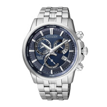 CITIZEN Perpetual Calender Eco Drive Watch - Silver Strap/Blue Dial 41mm Gents [BL8140-80L]