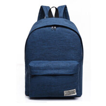 [kingstore] Casual Style Canvas Backpack Large Capacity Travel Shoulder Bag School Bags Blue