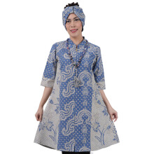 SHE BATIK Dress Batik Tulis Pias Lawasan - Blue