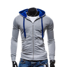 BESSKY Men Winter Slim Hoodie Warm Hooded Sweatshirt Coat Jacket Outwear Sweater _