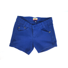 Mobile Power Ladies Basic Color Short Pants Denim - Blue F5513