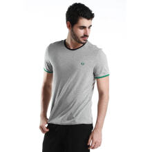 Fredperry Men- Light Grey Round Neck T-Shirt L