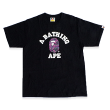 Bape Tee Purple Logo Alphabet Purple size L