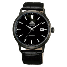 Orient Symphony Japan 21 Jewel Automatic Black Dial Black Leather Strap [FER27001B]