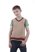 POLO RALPH LAUREN - Cotton Knit V-Neck Vest Cream