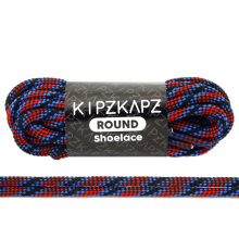 KIPZKAPZ RS56 Round Shoelace - Black Trinity [4mm]
