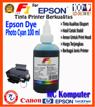 F1 Ink For Epson Dye Photo Cyan 100 ml
