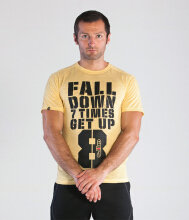 GRIPS Men GET UP TEE SHIRT - YELLOW