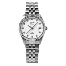 Alexandre Christie AC 5006 LD BSSSL Ladies White Dial Stainless Steel [ACF-5006-LDBSSSL] Silver