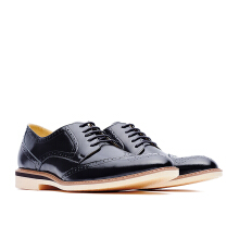 LIFE 8 Formal Casual Embossed Leather Derby Shoes - Black