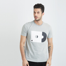 ONE HOURS Vynil T-Shirt Men - Grey