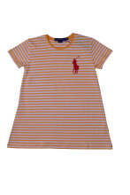 POLO RALPH LAUREN - Lacoste Spandex Striped T-Shirt Orange-White