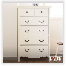 LIVIEN Furniture Lemari Pakaian - Lemari Laci - Chest 5D Arsit Series - White