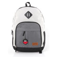 BLACKELLY Tas Ransel / Backpack Kasual Pria - LJB 319 - White Grey