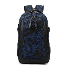 Ins I-233 Trendy outdoor travel &casual backpack-Black&Blue