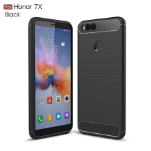Smatton Case hp HUAWEI Honor 7X Luxury Shockproof Case Carbon Fiber For Soft TPU Full Protect Ultra Thin Case shell