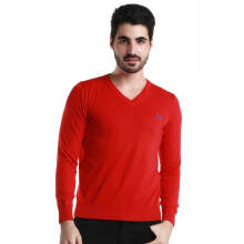 Fredperry Men- Red V Neck Sweatshirt