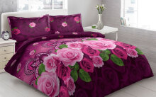 Sprei Bantal 4 Vito Disperse 180x200cm Classic Flower - Purple