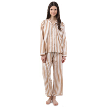 MOODS Stripe Long - Soft Brown [All Size]