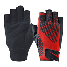 NIKE Mens Core Lock Training Gloves 2.0 - Black/Total Crimson