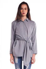 HILS THE LABEL Grey Ribs Tops