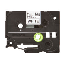 BROTHER Label Tape TZE-FX221 9MM Flexible Black on White