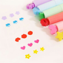 BESSKY 3PC Cute Color Highlighters Inks Stamp Pen Creative Marker Pen school Stationery_ Multicolor