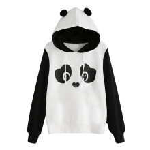 BESSKY Fashion Womens Panda Hoodie Sweatshirt Hooded Pullover Jumper Tops Blouse_