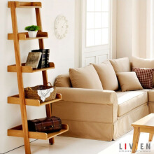 LIVIEN Furniture - Rak Buku 5 Tingkat Maple Story - Brown