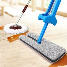 BESSKY Useful Double-Side Flat Mop Hands-Free Washable Mop Home Cleaning Tool Lazy _ Blue