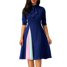 BESSKY Women Casual Dress Ladies Half Sleeve DressEvening Party Dress_
