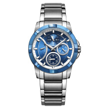 Alexandre Christie AC 2503 BF BTEBU Ladies Multifunction Blue Dial Stainless Steel [ACF-2503-BFBTEBU] Silver