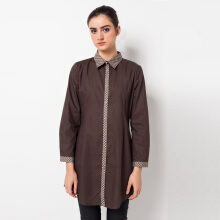 A&D MS 719A Tunic Blouse Long Sleeve - Brown