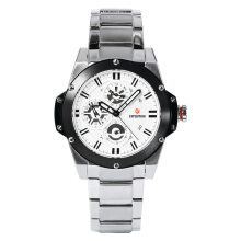 Expedition Ladies Sport White Dial Stainless Steel Watch [EXF-6696-BFBTBSL] Silver