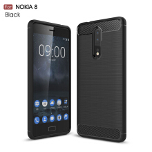 Smatton Case hp Nokia 8 Luxury Shockproof Case Carbon Fiber For Soft TPU Full Protect Ultra Thin Case shell