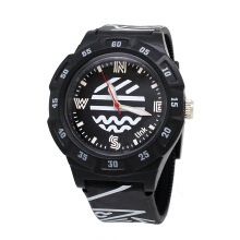 LINKGRAPHIX PSM04 Explorer Jam Tangan Unisex - Black [Diameter 40mm]