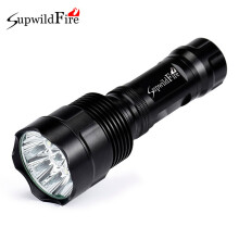 BESSKY SupwildFire 40000Lm 16x XML T6 LED 5Mode LED Flashlight Torch Light Lamp_ Black