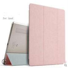 Ins AP-114A Super Thin PU Artificial deer skin pattern Surface scrub treatment Apple Ipad Pro12.9 protective cover-Pink