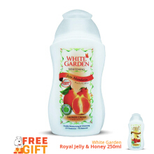 WHITE GARDEN Shower Cream Jeju Mandarin 250ml - Free Royal Jelly & Honey 250ml