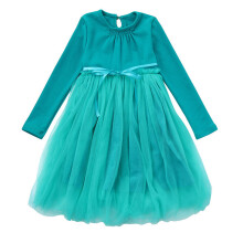 BESSKY Toddler Kids Baby Girls Clothes Long Sleeve Bowknot Pageant Party Princess Dress_