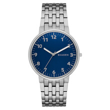 Skagen Ancher Men Blue Dial Stainless Steel Strap [SKW6201] Silver