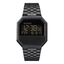 Nixon Re-Run Stainless Steel Chain Ladies A158001-1207D39HTM Digital Full Black Black