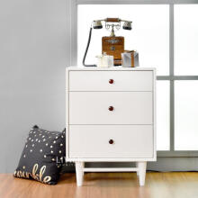 LIVIEN Furniture Lemari Meja Nakas 3 Laci - Alody Series - White
