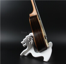 BWS PVC Lion Design Removable Instrument Stand Holder Supporter for Ukulele Mandolin Violin Guitar B-S03 White