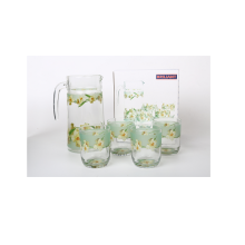 BRILIANT Pitcher and Tumbler GM2095 Set Of 5 - Green