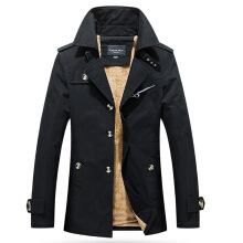 Men Fleece Coat Trench