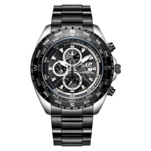 Expedition Altimeter Man Chronograph Black Dial Stainless Steel [EXF-6739-MCBTBBA]
