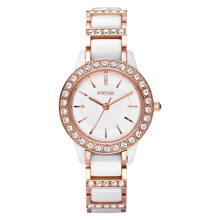 Fossil Ladies Jesse White Ceramic Dial Rose Gold Tone Stainless Steel Strap [CE1041] Rose Gold